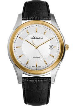 Adriatica Часы Adriatica 1116.2213Q. Коллекция Gents Leather patrick hellmann водолазка от patrick hellmann s3056 черный