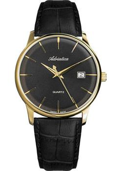 цена Adriatica Часы Adriatica 8242.1214Q. Коллекция Gents Leather онлайн в 2017 году