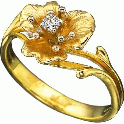 Золотое кольцо Ювелирное изделие K-14004
