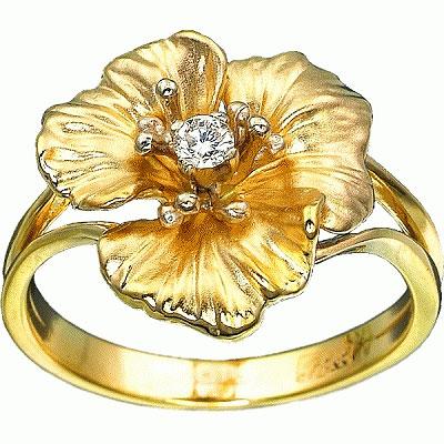 Золотое кольцо Ювелирное изделие K-14009
