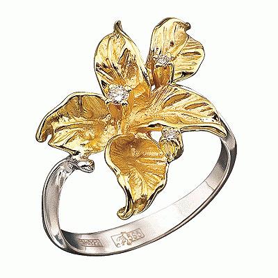 Золотое кольцо Ювелирное изделие K-14018