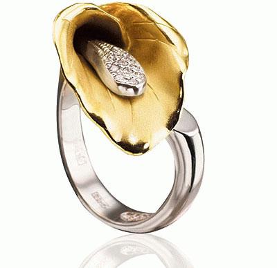 Золотое кольцо Ювелирное изделие K-14021