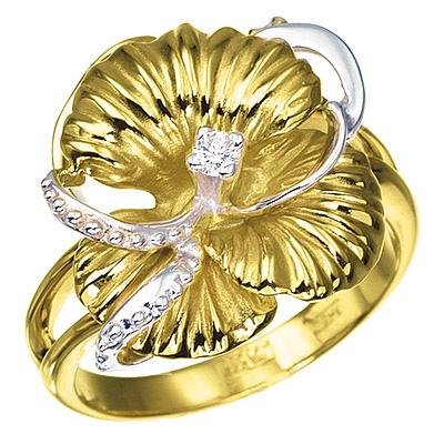Золотое кольцо Ювелирное изделие K-14029