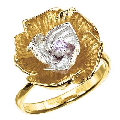 Золотое кольцо Ювелирное изделие K-14034