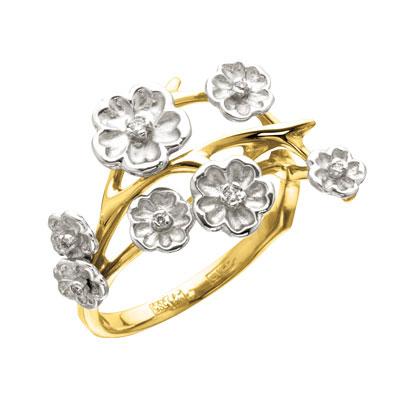 Золотое кольцо Ювелирное изделие K-14042
