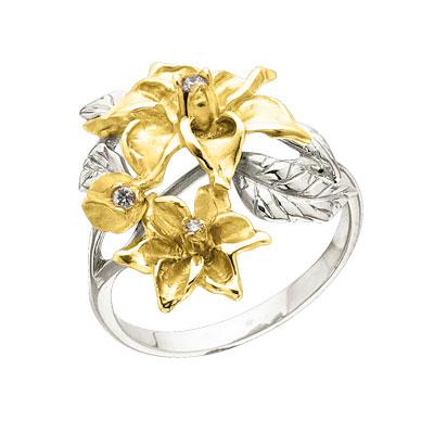 Золотое кольцо Ювелирное изделие K-14044
