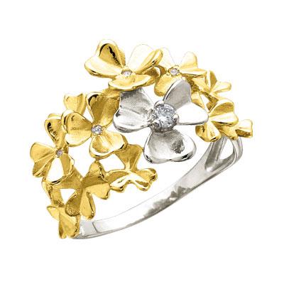 Золотое кольцо Ювелирное изделие K-14045
