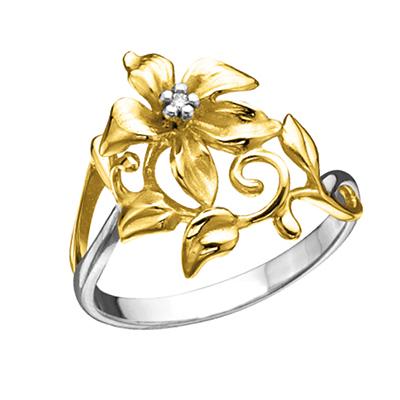 Золотое кольцо Ювелирное изделие K-14047