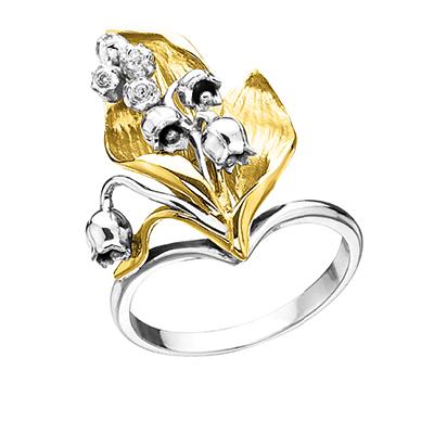 Золотое кольцо Ювелирное изделие K-14048