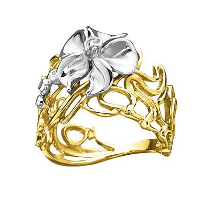 Золотое кольцо Ювелирное изделие K-14049
