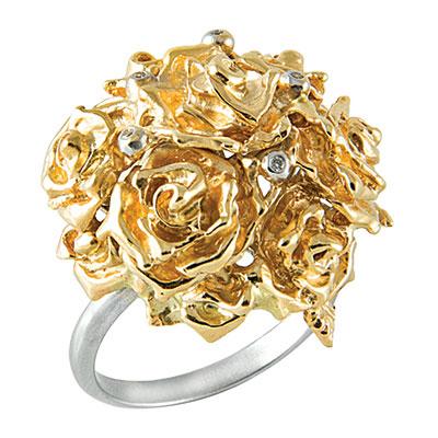 Золотое кольцо Ювелирное изделие K-14053