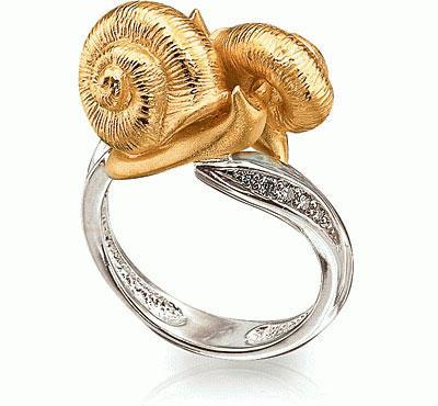 Золотое кольцо Ювелирное изделие K-24036