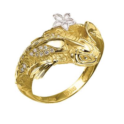 Золотое кольцо Ювелирное изделие K-24043 золотое кольцо ювелирное изделие k 24035n