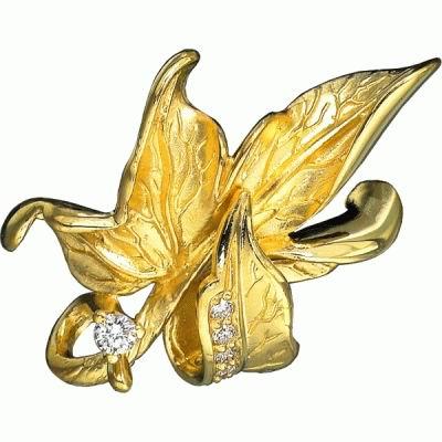 Золотой подвес Ювелирное изделие P-11025 korloff золотой кулон с цепочкой с бриллиантами ktcl7lnpg 45