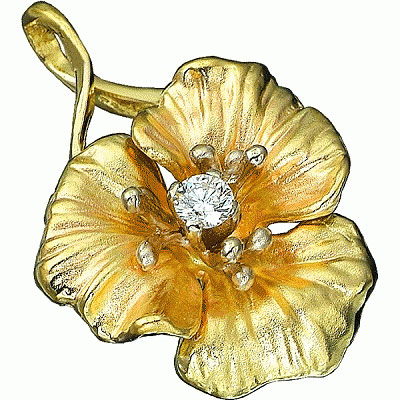 Золотой подвес Ювелирное изделие P-14009