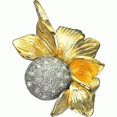 Золотой подвес Ювелирное изделие P-14019 wu xi woothy белого золота 18 карат алмазов ожерелье кулон золотой кулон с бриллиантами