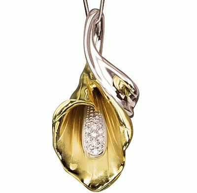 Золотой подвес Ювелирное изделие P-14021 золотой браслет ювелирное изделие br 14021