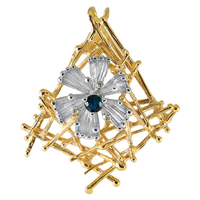 Золотой подвес Ювелирное изделие P-14052