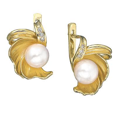Золотые серьги Ювелирное изделие S-11415