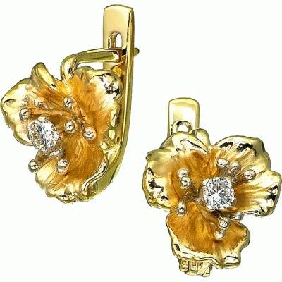 Золотые серьги Ювелирное изделие S-14004 цена