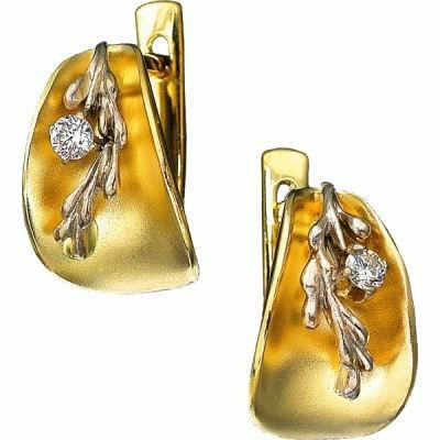 Золотые серьги Ювелирное изделие S-14011 цена