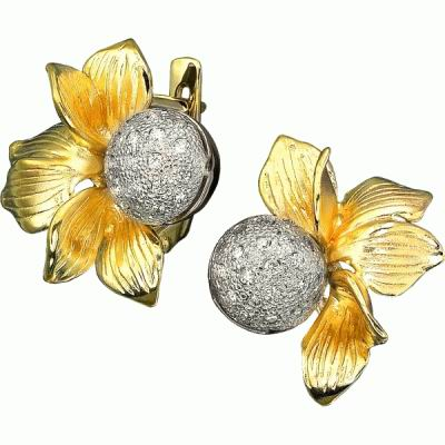 Золотые серьги Ювелирное изделие S-14019 acer прилива сяо мэн кролик 18k золотые серьги цвета золота серьги золотой цвет