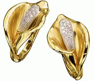 Золотые серьги Ювелирное изделие S-14021