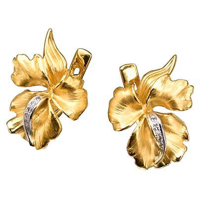 Золотые серьги Ювелирное изделие S-14026 золотые серьги кюп с бриллиантами и alm1820212149