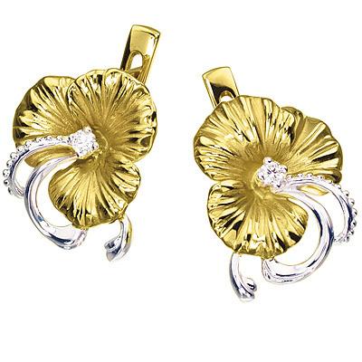 Золотые серьги Ювелирное изделие S-14029