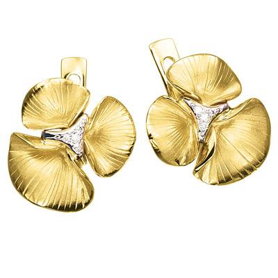 Золотые серьги Ювелирное изделие S-14030 серьги sokolov 027567 s