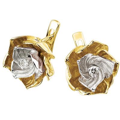 Золотые серьги Ювелирное изделие S-14034