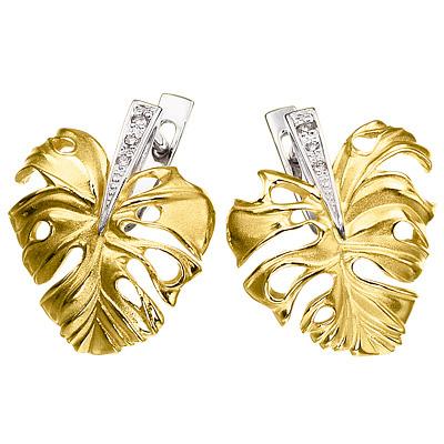 Золотые серьги Ювелирное изделие S-14036