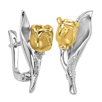 Золотые серьги Ювелирное изделие S-14039 ювелирное изделие s 22038