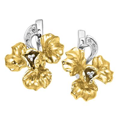 Золотые серьги Ювелирное изделие S-14041 lacywear s 13 ytt