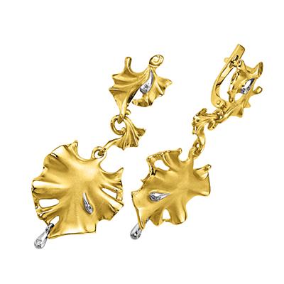 Золотые серьги Ювелирное изделие S-14046 цена и фото