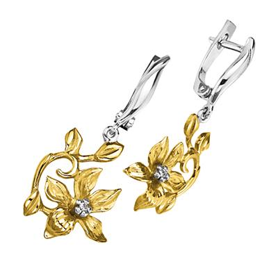 Золотые серьги Ювелирное изделие S-14047 золотые серьги ювелирное изделие s 24036