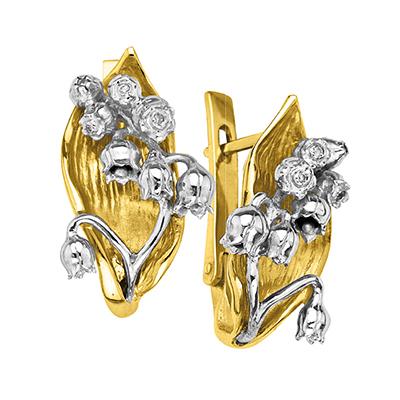 Золотые серьги Ювелирное изделие S-14048 ювелирное изделие s 22038