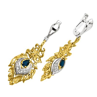 Золотые серьги Ювелирное изделие S-24025 ювелирное изделие s 22038