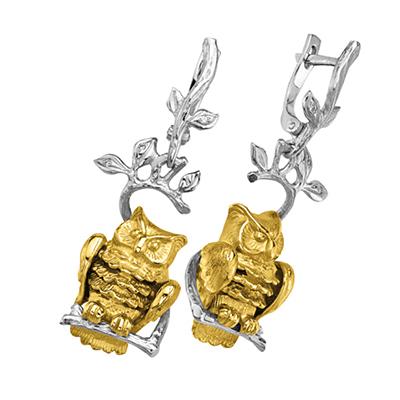 цена Золотые серьги Ювелирное изделие S-24029
