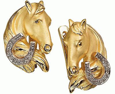 Золотые серьги Ювелирное изделие S-24035