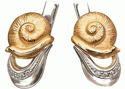 Золотые серьги Ювелирное изделие S-24036