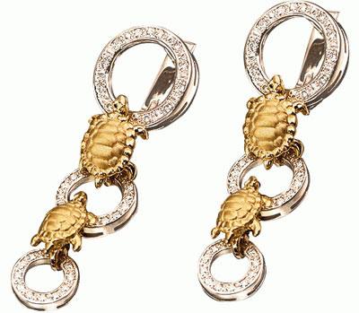 Золотые серьги Ювелирное изделие S-24037
