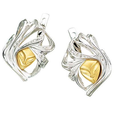 Золотые серьги Ювелирное изделие S-24041