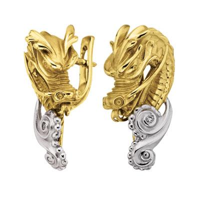 Золотые серьги Ювелирное изделие S-24049