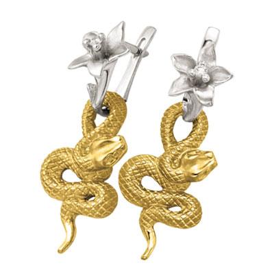 Золотые серьги Ювелирное изделие S-24053 ювелирное изделие s 22038