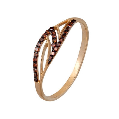 Золотое кольцо Ювелирное изделие A1000202292-2-1 коньячный набор