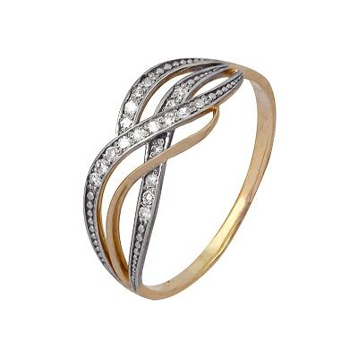Золотое кольцо Ювелирное изделие A1000202293 кольцо алмаз холдинг женское золотое кольцо с бриллиантами и рубином alm13237661 19