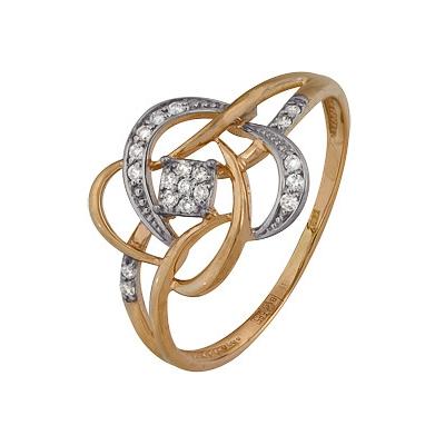 Золотое кольцо Ювелирное изделие A1000202659 кольцо алмаз холдинг женское золотое кольцо с бриллиантами и рубином alm13237661 19