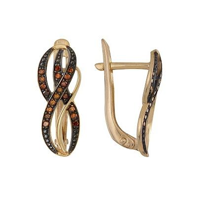 Золотые серьги Ювелирное изделие A1000212293-2-1 коньячный набор
