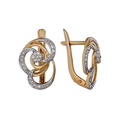 Золотые серьги Ювелирное изделие A1000212657 delta твн 35а
